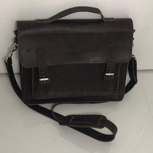 Other - Custom Rugged Leather Messenger Bag Brand New!